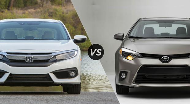 Toyota corolla altis grande facelift 2017 vs honda civic for Honda civic vs toyota corolla 2017