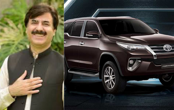 Luxury 2800cc car imported for KPK Minister Shaukat Yousafzai